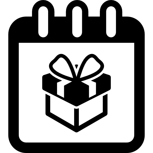 Birthday Giftbox On Reminder Calendar Page