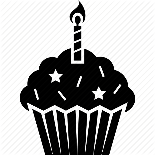 Birthday, Cake, Candle, Celebration, Cupcake Icon