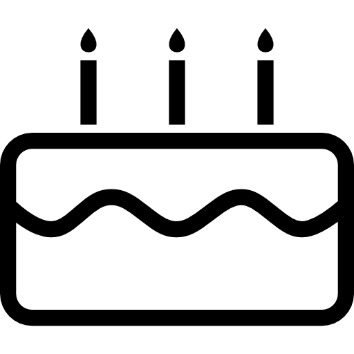 Birthday Cake With Candles Icons Free Download