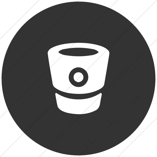 Flat Circle White On Dark Gray Bootstrap Font Awesome
