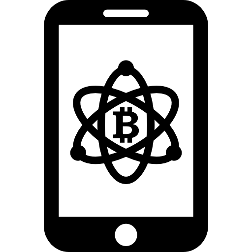 Bitcoin In Science Symbol On Mobile Phone Screen Icons Free Download
