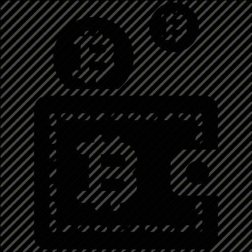 Bitcoin, Digital, Wallet Icon