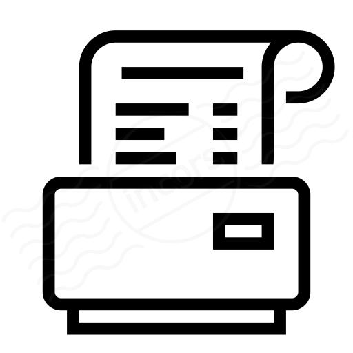 Iconexperience I Collection Receipt Printer Icon