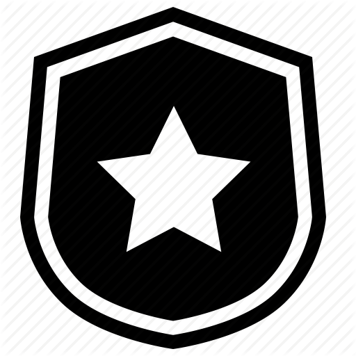 Black Police Badge Icon