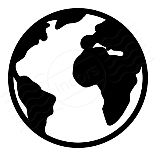 Earth Black And White Vector Icons Images