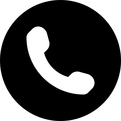 Phone Symbol Of An Auricular Inside A Circle Icons Free Download