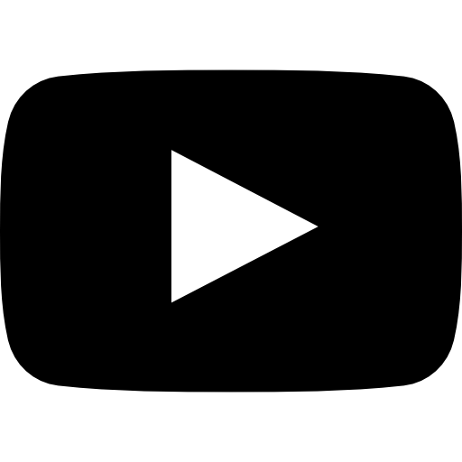 Black And White Youtube Logo Png Images