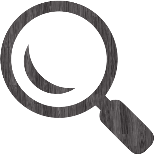 Black Wood Search Icon