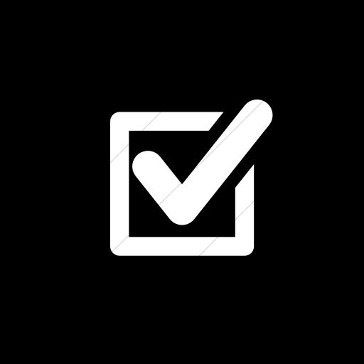 Flat Circle White On Black Raphael Checked Box Icon