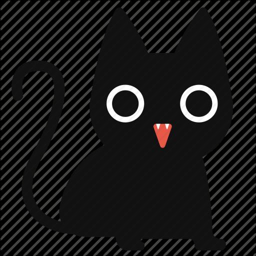 Black Cat, Cartoon, Cat, Cute, Halloween, Horror Icon