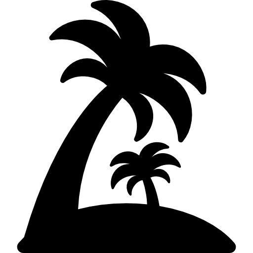 Island With Palm Trees Free Vector Icons Designed
