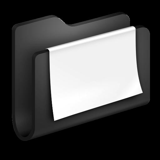 Documents Black Folder Icon Alumin Folders Iconset Wil Nichols