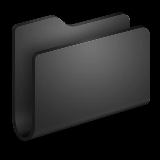 Generic Black Folder Icon Alumin Folders Iconset Wil Nichols