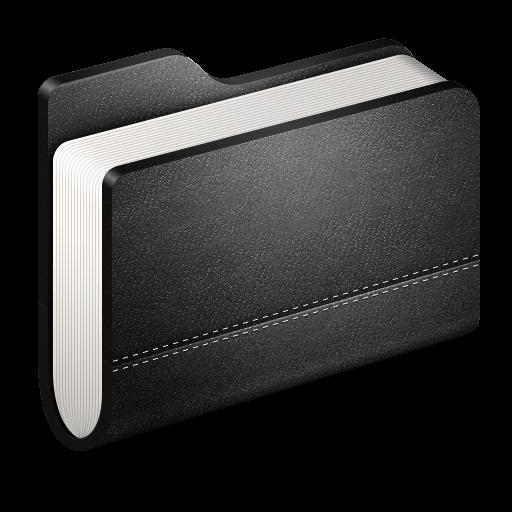 Library Black Folder Icon Alumin Folders Iconset Wil Nichols