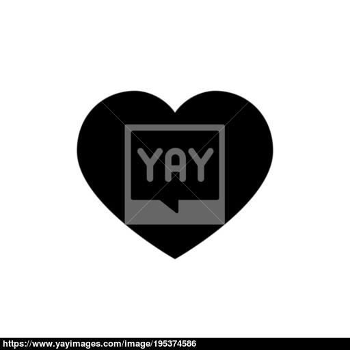 Heart Icon Love Symbol Valentine S Day Sign Vector