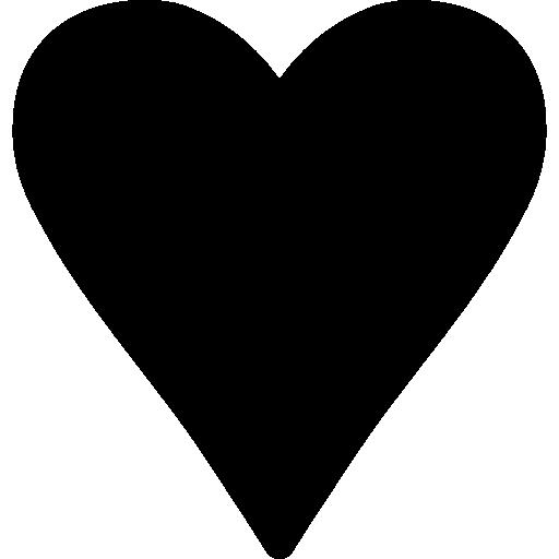 Black Heart Love Symbol Icons Free Download