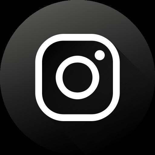 Circle, Social Media, Social, Instagram, Long Shadow, High Quality