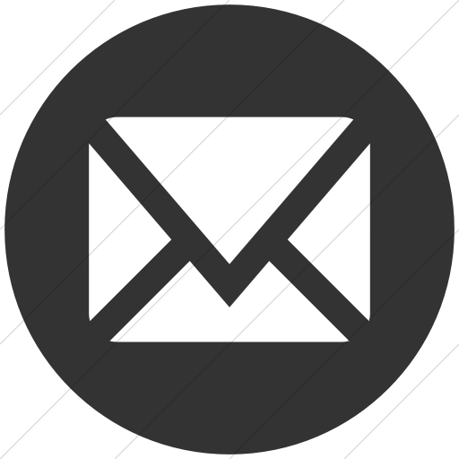 Simple Dark Gray Social Media Mail Icon
