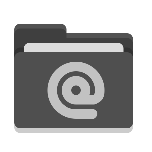 Folder, Black, Mail Icon Free Of Papirus Places