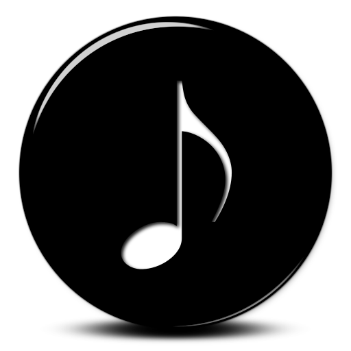 Black Music Note Icon Images