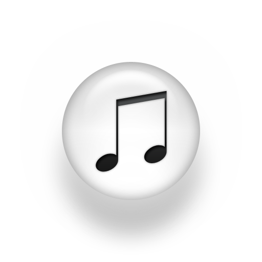Red And White Music Icon Images