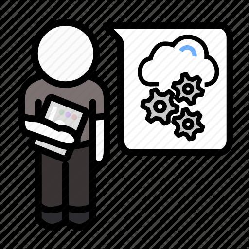 Agile, Cloudops, Dev Ops, Devops, Infrastruction, Scrum, Webops Icon