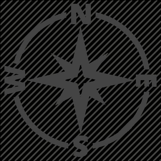 Graphics Compass Icon, Location Icon