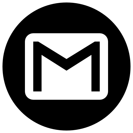 Gmail Icon Free Of Address Book Providers In Black White Icons