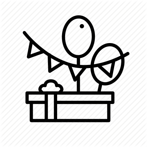 Baby, Bw, Celebration, Gift, Occasion, Party, Shower Icon