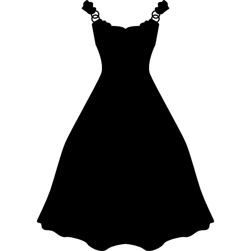 Dress Long And Black Shape Icons Free Download