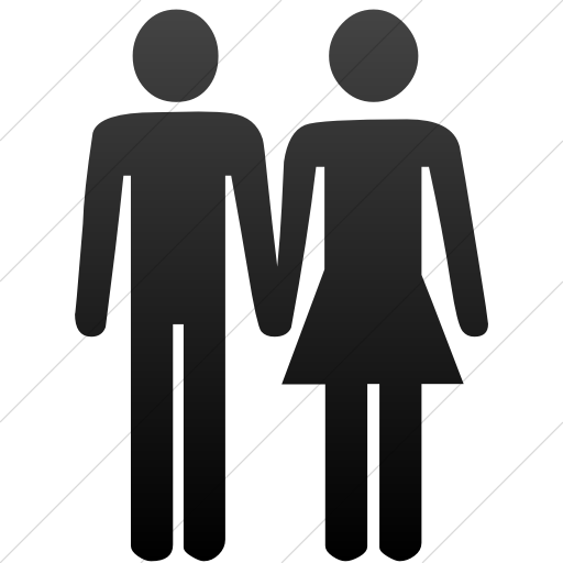 Simple Black Gradient Classica Man And Woman Holding