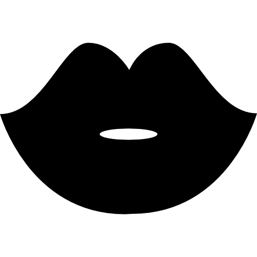 Woman Black Lips Shape Icons Free Download