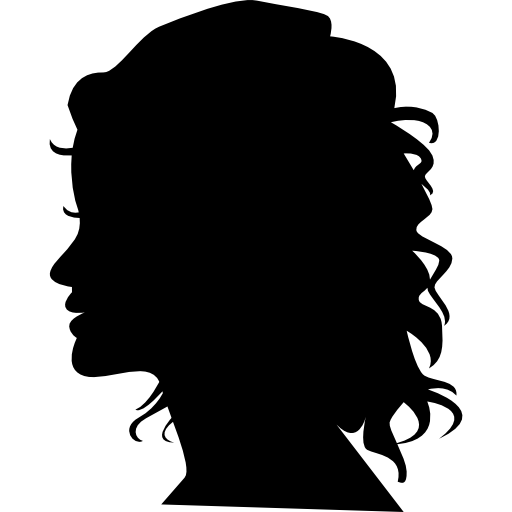 Woman Silhouette Head Side View Icons Free Download