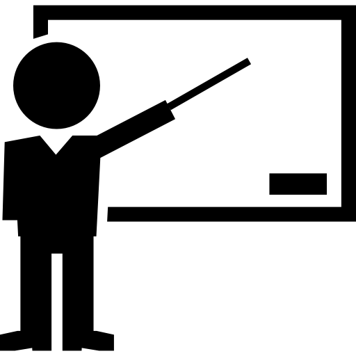 Teacher Pointing Blackboard Icons Free Download