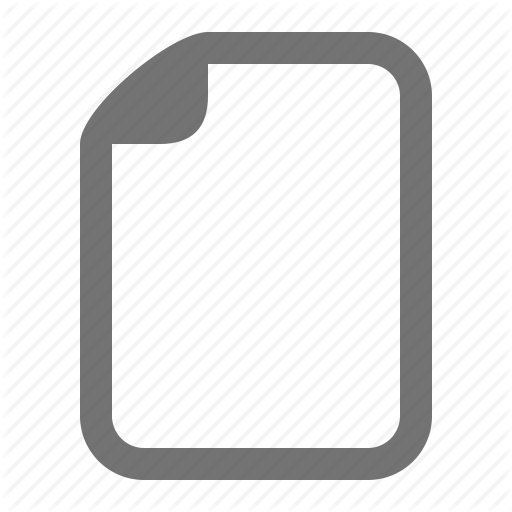 Blank, Document, Empty, File, Page, Paper, Sheet Icon