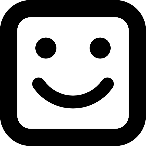 Smile Square Face Icons Free Download