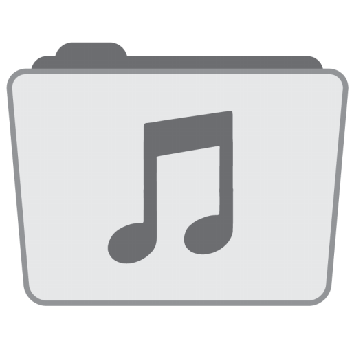 Folder Music Icon Stock Folder Style Iconset Hamza Saleem