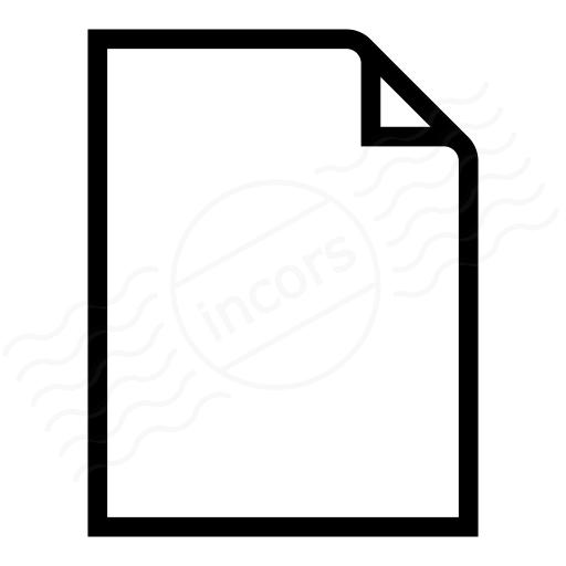 Iconexperience I Collection Document Empty Icon