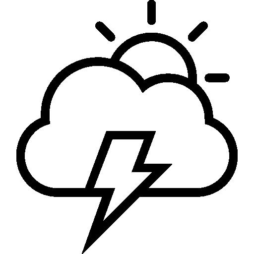 Sturm Tage Wetter Schnittstelle Symbol Der Sonne, Wolken Und Ein