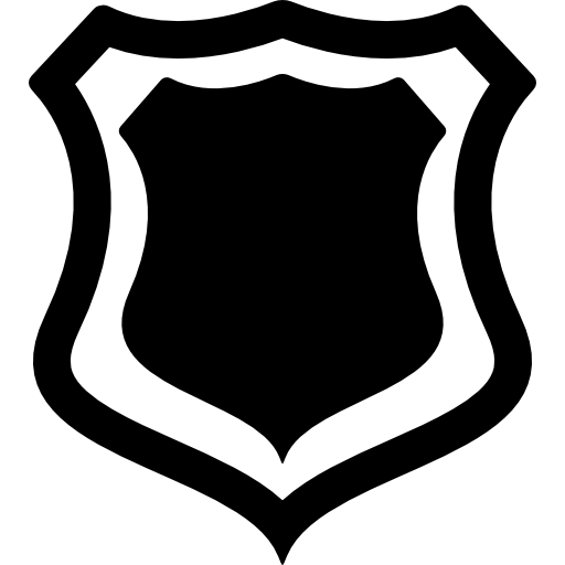 Shield Badge With Outline Icons Free Download