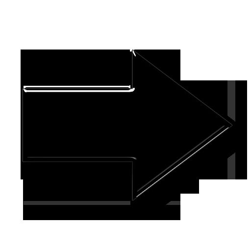 Soft White Right Arrow Icon