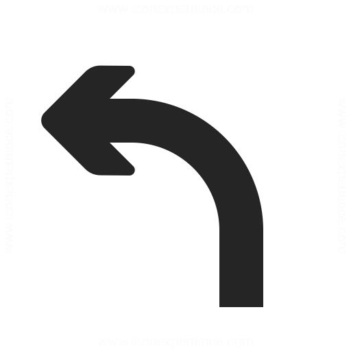 Arrow Curve Left Icon Iconexperience