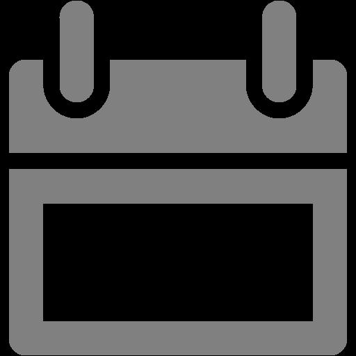 Gray Calendar Icon