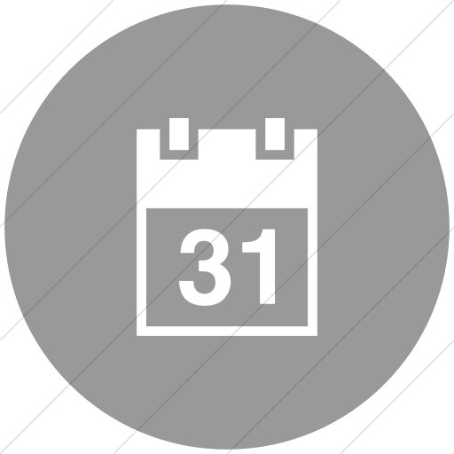Flat Circle White On Light Gray Raphael Calendar Icon
