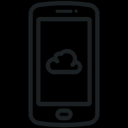 Cloud, Smart Phone Icon, Mobile Icon