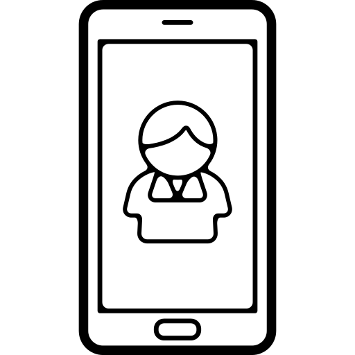 User Or Contact Symbol On Cellphone Screen Png Icon