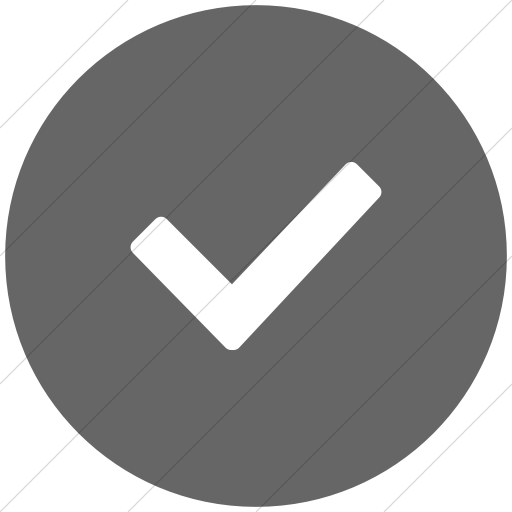 Flat Circle White On Gray Broccolidry Checkmark Icon