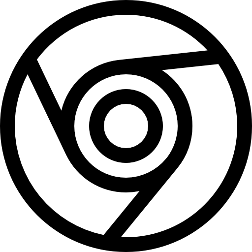 Blue Chrome Icon