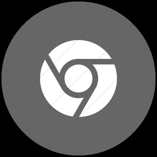 Flat Circle White On Gray Social Media Chrome Icon