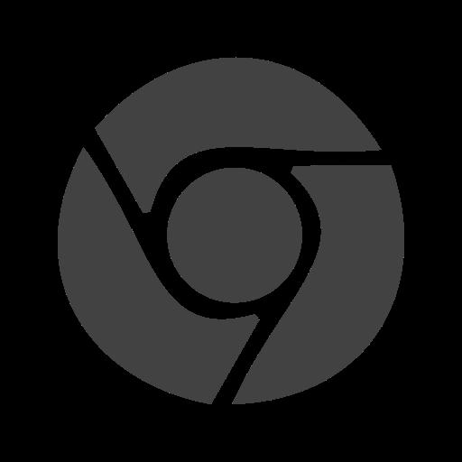 Social Media Chrome Glyph Icon
